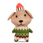 KNITTED TOY - DOG (BROWN) (24x12x4cm) BWAT2828