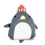 KNITTED TOY - PENGUIN (GREY) (24x12x4cm) BWAT2829