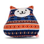 KNITTED COLORFUL CAT SERIES (BLUE) (16x15x4cm) BWAT2834