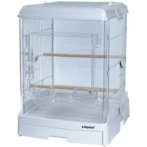 ACRYLIC BIRD CAGE 40 WHITE (62x 50.5x 54cm) TM2240