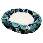 TEXTILE ROUND BED - BANANA LEAF (GREEN) (LARGE) (86x15cm) YF105019GNL