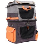 TWO-TIER PET BACKPACK (GREY) (39x29x56cm) BWIBIFC1980OG
