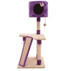 3 TIERS WITH SCRATCH BOARD & HOME (PURPLE) (40x40x101cm) YS77318