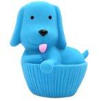LATEX TOY - DOG CUPCAKE (BLUE) (11cm) YT105915