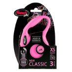 RETRACTABLE LEASH - NEW CLASSIC 3M TAPE EXTRA SMALL (12kg) (PINK) FBI0CL00T3251P