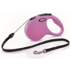 RETRACTABLE LEASH - NEW CLASSIC 5M TAPE SMALL (15kg) (PINK) FBI0CL10T5251P