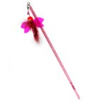 RETRACTABLE STICK TEASER - FLYING INSECT (RED) (67cm) BWAT3770