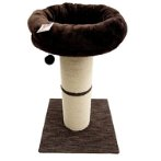 2 TIERS WITH JUMBO SISAL POST & REST(BROWN) (48.5X48.5X77cm) YS103596
