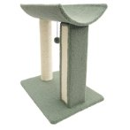 2 TIERS WITH CURVED NAPPING PERCH & TOY(GREEN) (49x36.5x56cm) YS103587