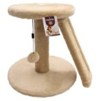 2 TIERS WITH SCRATCH BOARD & HANGING BALL (BEIGE) (35x34cm) YS93177