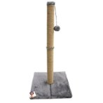 JUTE POLE WITH HANGING BALL(GREY / BROWN) (35x35x74cm) YSD2019015