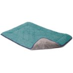 CHENILLE SLEEPER CUSHION (GREEN / BLUE TRIM) (EXTRA LARGE) (71x106cm) DGS0SC286501