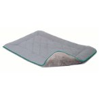 CHENILLE SLEEPER CUSHION (GREY / GREEN TRIM) (MEDIUM) (53x76cm) DGS0SC212165