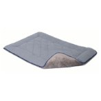 CHENILLE SLEEPER CUSHION (GREY / BLUE TRIM) (LARGE) (58x91cm) DGS0SC232101