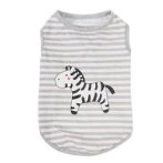 SWEAT SHIRT - STRIPE WITH ZEBRA (GREY) (SMALL) (25cm) SS0TK077GYS