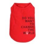 SWEAT SHIRT - CHANGE THE WORLD (RED) (SMALL) (25cm) SS0TK082RDS