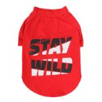 T-SHIRT - STAY WILD (RED) (SMALL) (25cm) SS0TK097RDS