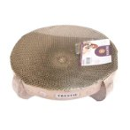 CAT SCRATCHER BOWL-CAT PRINT(35x35x10cm) DT20200042