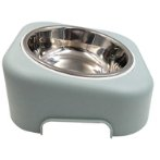 ELEVATED SLANTED BOWL (OCEAN GREY) (300ml) (17.5x4.5cm) YE105808GY