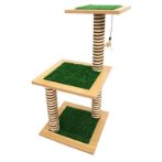 3T WITH  ARTIFICIAL GRASS (BROWN) (39x39x80cm) YS107454