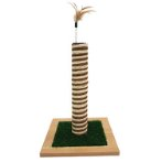 SISAL POLE WITH ARTIFICIAL GRASS (BROWN) (30x30x42cm) YS107457