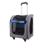 LISO PET CARRIER TROLLEY (GREY) (40x31x44cm) BWIBIFC1705GB
