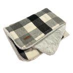 PET MAT - CHECKED (GREY) (100x70cm) YF109310GY