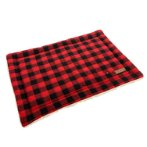PET MAT - CHECKED (RED) (X-SMALL) (58x41x2cm) YX106586RDXS