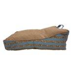 LOUNGER BED - STRIPE (BLUE / BROWN) (60x45x21cm) DF202011327BU