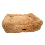 LUXURY PET BED (LIGHT BROWN) (MEDIUM) (75x58x19cm) YF109372LBNM