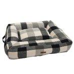 PET BED - CHECKED (GREY) (MEDIUM) (75x60x15cm) YF109311GYM