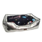 PET BED - PLANET (SILVER) (LARGE) (80x55x23cm) DF202001085SLL