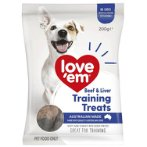 BEEF & LIVER TRAINING TREATS 200g LE125