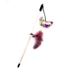 CAT TEASER WITH LINT CATNIP TOY - BUTTERFLY (PURPLE) (58cm) BWAT3814