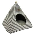 TEEPEE CAT BED - STRIPE (WHITE / BLUE) (MEDIUM) (50x50x48cm) YF109358BUM