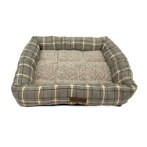 PET BED - CHECKED (GREY / WHITE) (SMALL) (50x44x10cm) YF109186WTS