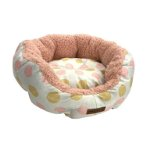 FLUFFY ROUND BED-POLKA DOT (PINK) (MEDIUM) (45x45x18cm) YF109348PKM