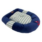 PLUSH PET BED-NAUTICAL (BLUE) (60x45x15cm) YF112124BU