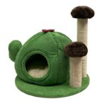 MUSHROOM SCRATCHER WITH CACTUS HOUSE (GREEN) (49x49x52cm) YS112427GN
