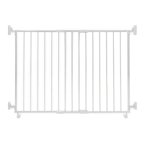EXTENDABLE GATE ON WHEEL WITHOUT STEP OVER BAR (WHITE) SG-86W