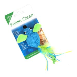 Feline Clean Cat Mesh Mice W Flossy Streamers Feathers Singapore Pet Lovers Centre